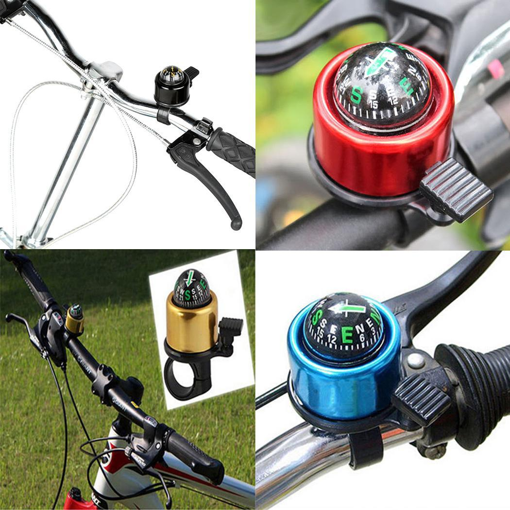 New Handlebar Road Bike Accessory Bicycle Bell Ring Cycling Compass