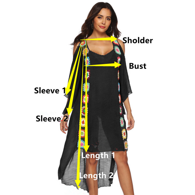Plus Size Beach Dress Long Cover Up Swimsuit Bikini Women Ups Large White Bathing Suit Swim Wear Beachwear Crochet Flower Q190521