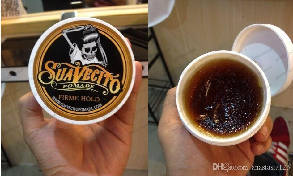 HOT! Suavecito Pomade hair Strong style restoring Pomade wax big skeleton slicked back hair oil wax mud keep hair pomade men