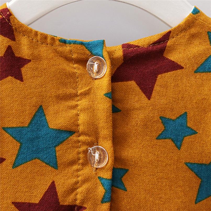 Girl Clothes Girls Dress Toddler Baby Girls Long Sleeve Star Printed Princess Dress+Cartoon Shoulder Bag Set girl costume D18 (17)