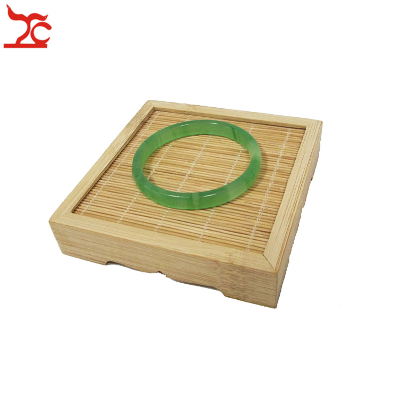 Amazing Bamboo Jewelry Display Holder Natural Bamboo Jade Bracelet Bangle Tea Ring Watch Accessory Display Organizer Rack Tray