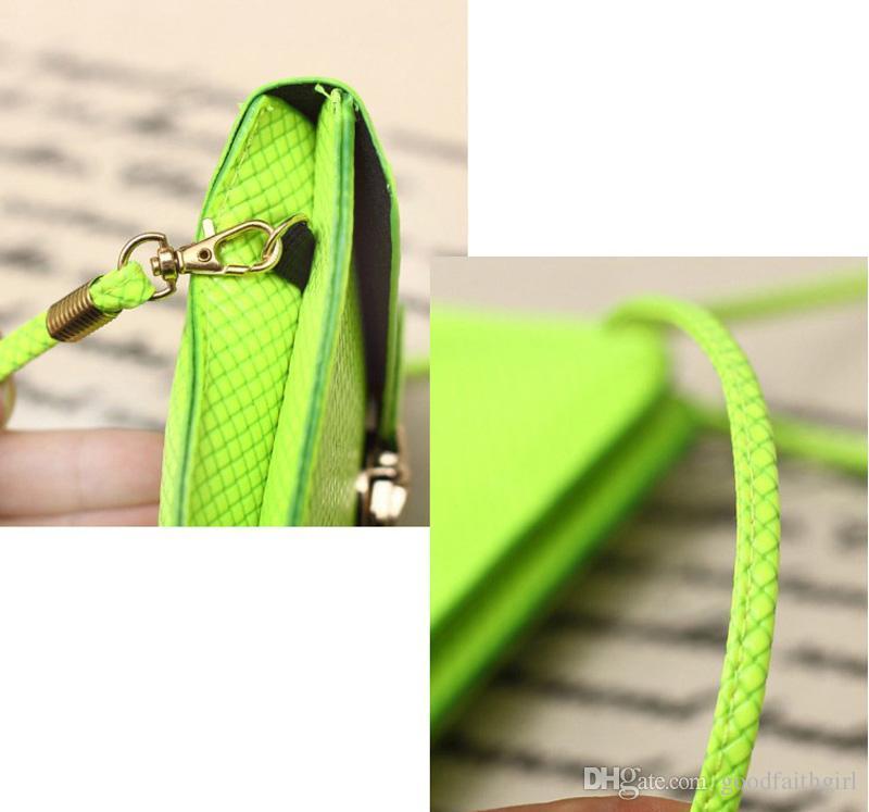Girl PU Leather Button Clutch Wallet coin Purse Handbag Mini Cross-Body Bag Phone case messenger bag