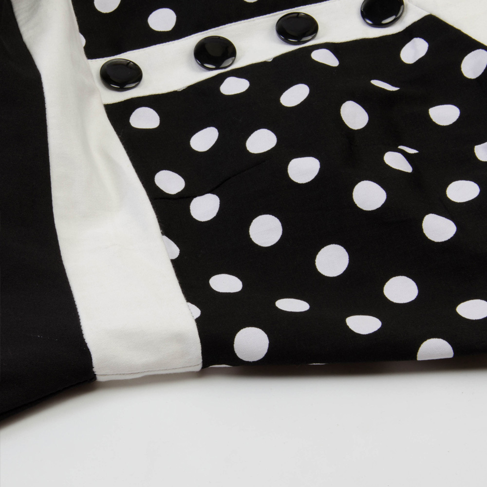 Joineles Polka Dot Print Holder Vintage Dress Women Sleeveless Summer Pin Up Dress Swing Rockabilly Party Dresses Tunika Vestidos Y19071101