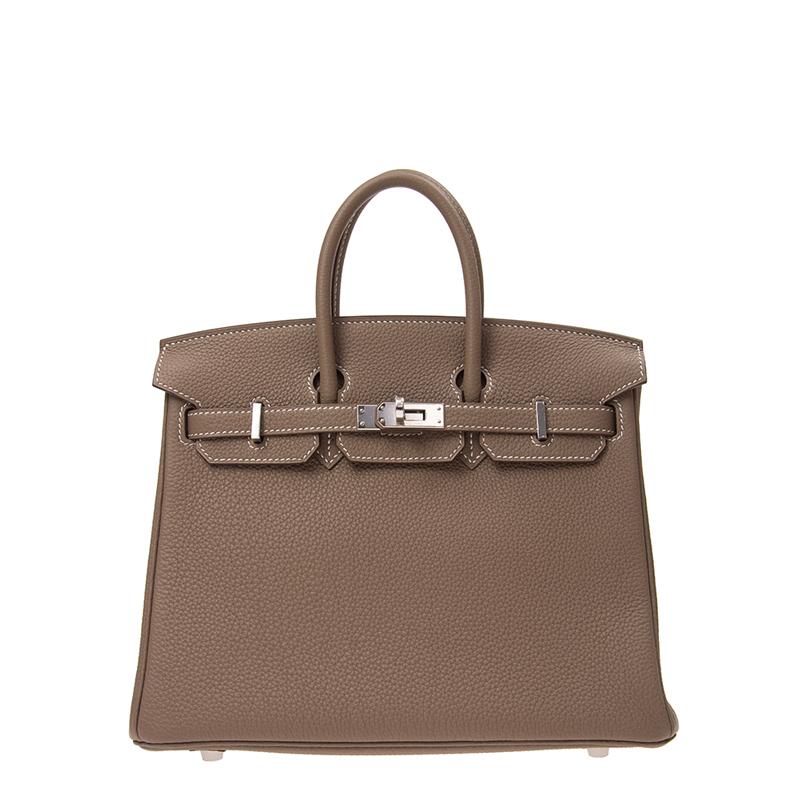 / ladies handbag BIRKIN 25 18 elephant gray TOGO silver buckle handbag BK2518TGSS-BA9906