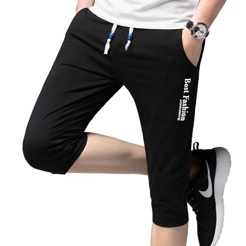 Korean Style Boy Kids Summer Short Turn Up Soft Cotton Capri Knee Pants Trousers