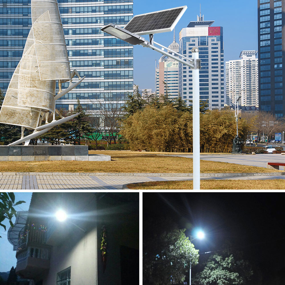 BEYLSION LED Solar Street Light Garden Solar Light 20W 30W 50W 100W 200W 300W Double color Solar Lamp Battery Powered Outdoor (10)