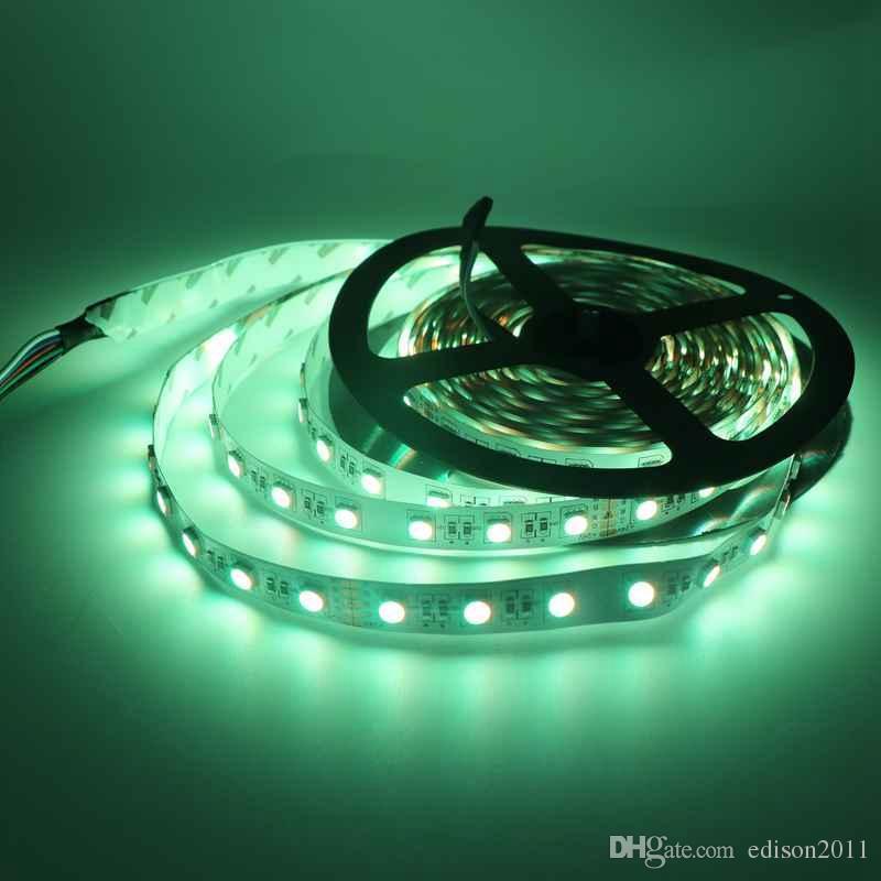 5M SMD 5050 RGBW in 1 LED DC24V RGB+ White/RGB+Warm White Non-Waterproof Led Strip
