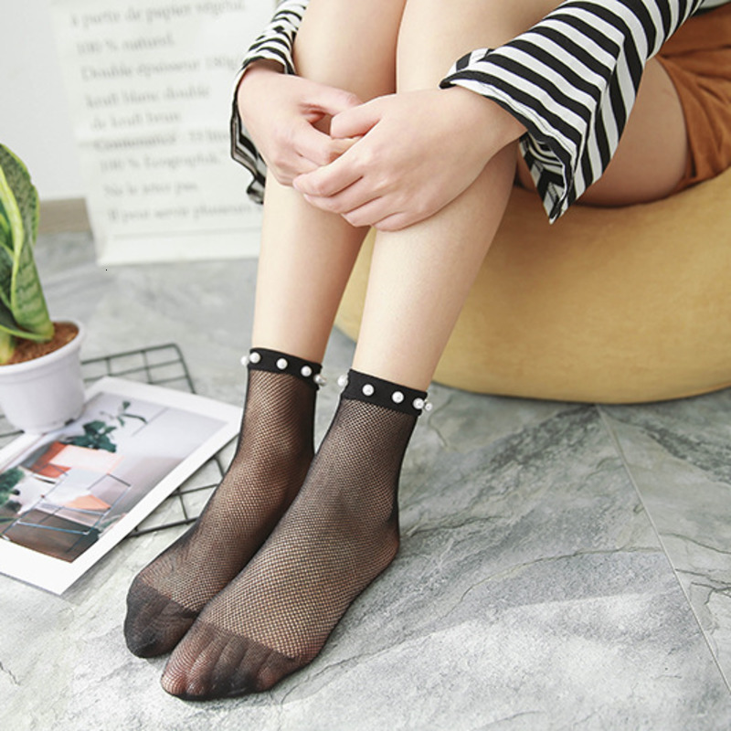Fashion Classic Women Hollow Out Mesh Fish Net Socks Summer Thin Sports Socks
