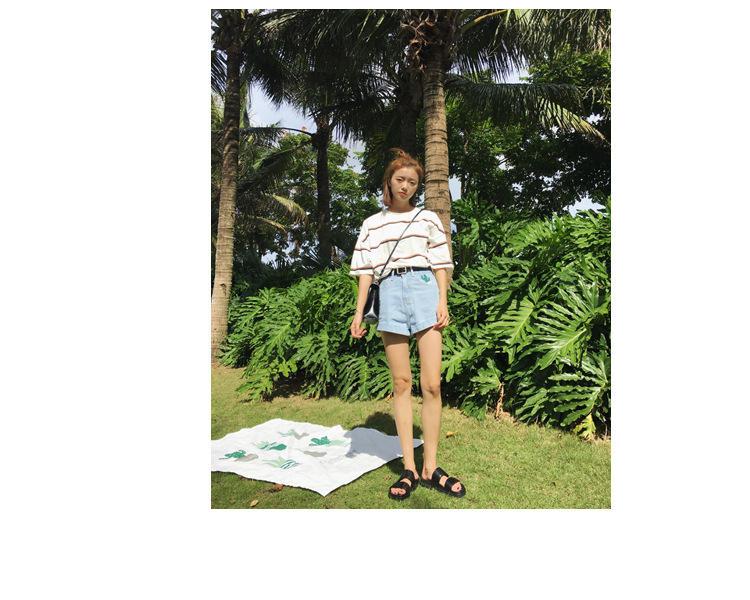 Vêtements femme Femmes Designer T-shirt femme T-shirts Harajuku Ulzzang été Tide en vrac Stripe Top Femme coréenne Kawaii Pour Clothe