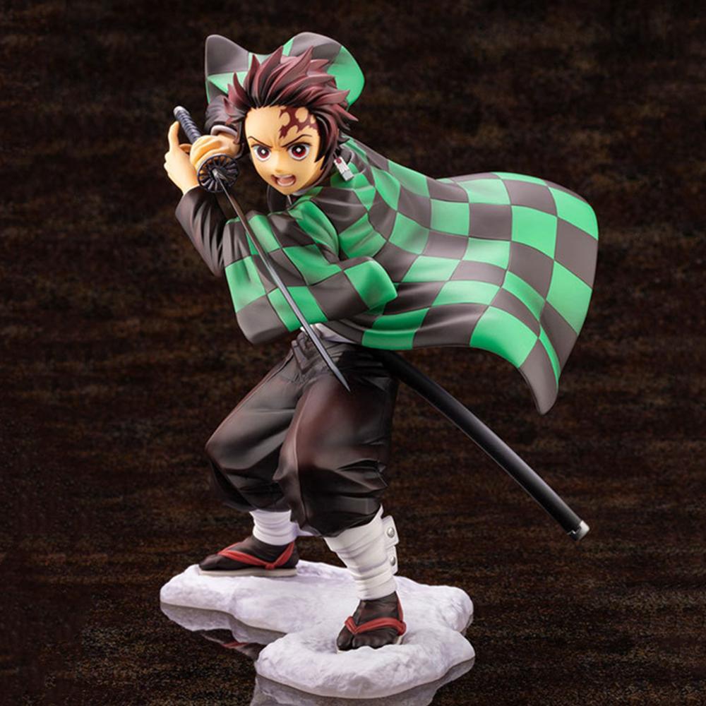 Action Toys Kimetsu no Yaiba Demon Slayer Anime Figures Kamado Tanjirou Figma Nezuko Tanjirou Change Face Collectible Model Doll