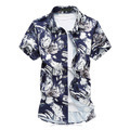 Summer Short Sleeve Mens Shirt Casual Dress Top Quality Cotton Slim Fit Big Size 5xl 6xl Camisa Social Floral Male Stretchy S082