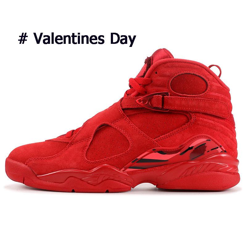 Day Valentines 8 8s Designer Herren Basketball Schuhe 3m Reflektierende Valentines Day Black Chrome Playoff Herren Trainer Sport Turnschuhe 8-13