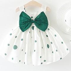 Baby-M-dchen-Kleidung-Dot-Sommer-Neue-Baby-Kleid-Gro-en-Bogen-rmellose-Prinzessin-Baby-M