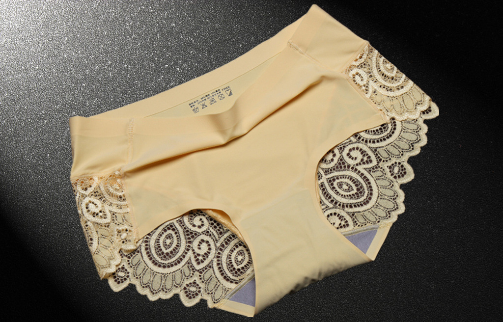 Victoria Sexy Hollow Out Ice Silk Ma'am Underpants A Piece Of Type Nothing Trace Lace Briefs