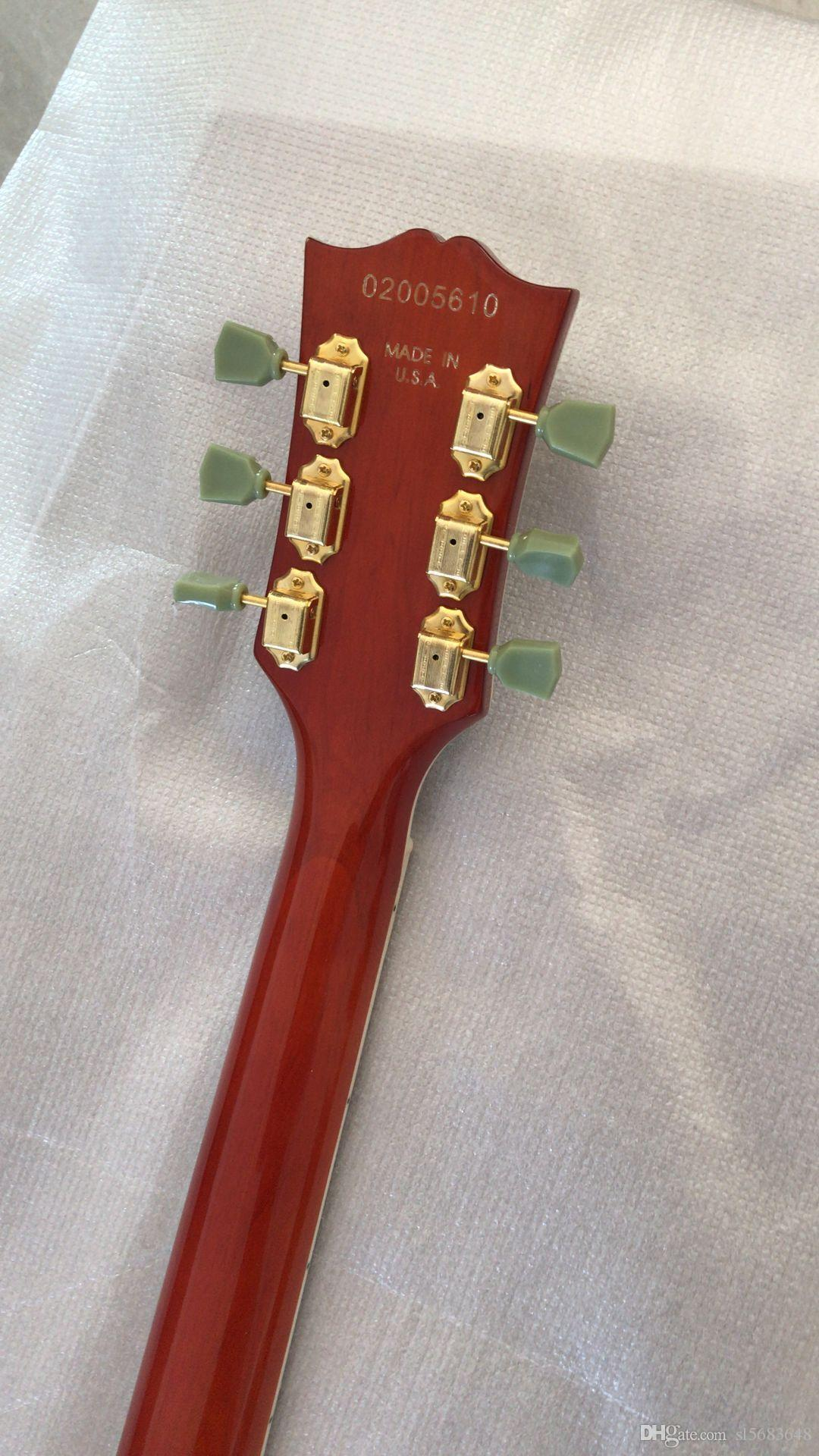 ! wholesale top quality jazz electric guitar in red ,semi-hollow guitar with rosewood freboard. can be customed 180225