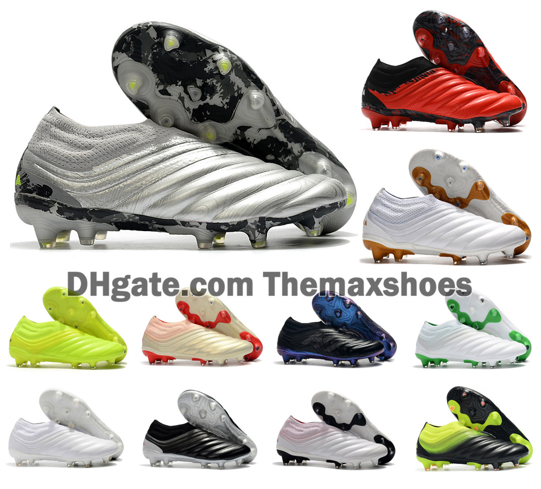 2020 New Mens Copa 20+ FG 20+x 20.1 19+x Slip-On Encryption Code Silver Soccer Football Shoes Boots Cheap Cleats Size 39-45