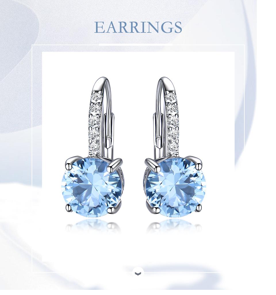 UMCHO Nano Sky Blue Topaz 925 sterling silver clip earrings for women EUJ061B-1-pc (1)