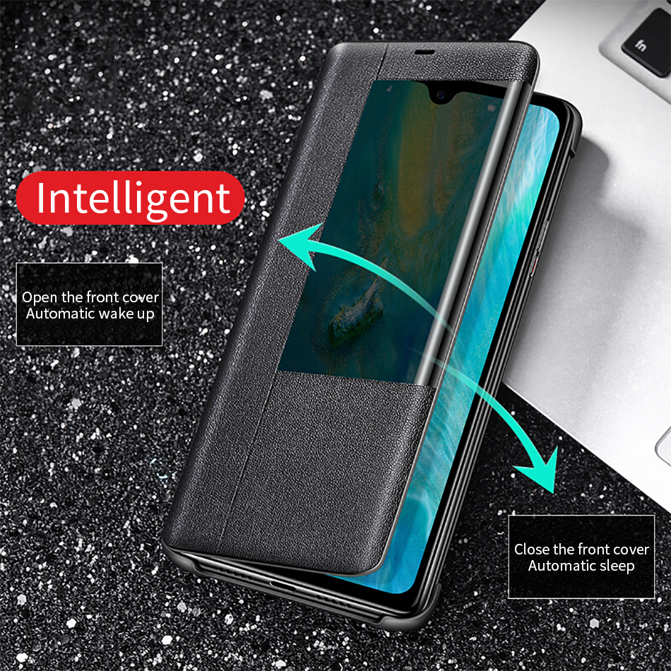 5HUAWEI mate20 Pro Case Original 100% Official Smart View Protection Cover HUAWEI MATE 20 Case Window Flip Leather Mate 20 Cover