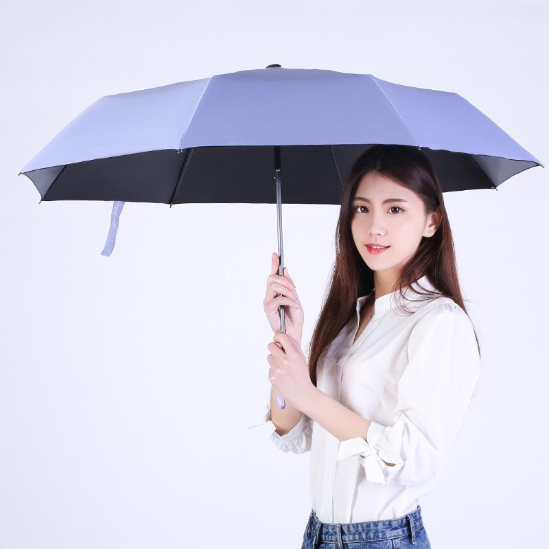 Sun Umbrella Rain Women Men 3 Folding Light Umbrella Durable 8K Strong Umbrellas Kids Rainy Sunny Unbrella Wholesale Price RG029