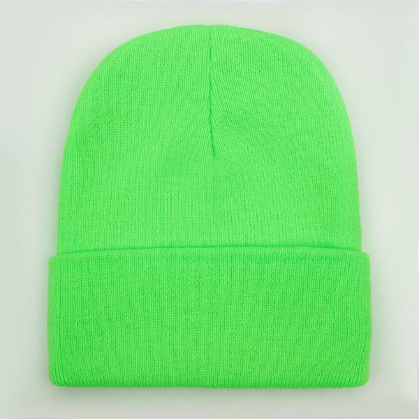 laineux Bonnet jaune fluo Ski Hiver Chapeau