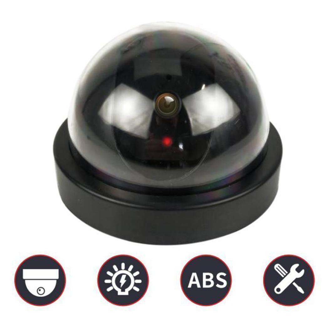 Falso Manequim Simulação Dome Câmera Red LED Luz Piscando Câmera de Segurança Moda Nova Simulação Câmera Dome