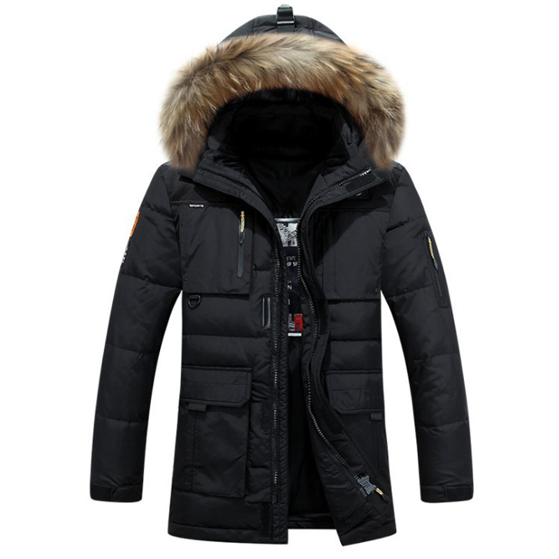 Brand duck down jacket men Winter jacket men high quality fur collar down coat thickening warm mens outwear overcoat