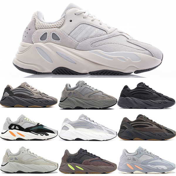 Kanye West 700 Vanta Static ANALOG INERTI Salt Geode Magnet Reflective Mens Running Shoes Mauve SALT Teal Blue trainers Sneakers