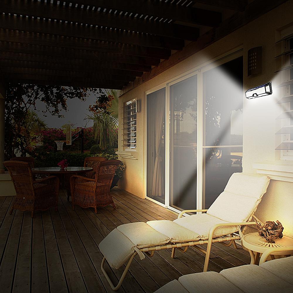 136 LED Solar Street Light For Home Garage Garden Light Solar Powered Wall Street Lamp with Motion Sensor Solar Light Waterproof (10)