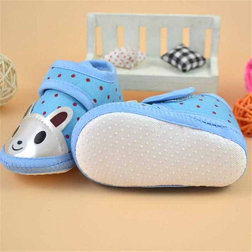Newborn Girl Boy First Walker Soft Sole Crib Toddler Shoes Canvas Sneaker NDA84L16 (6)