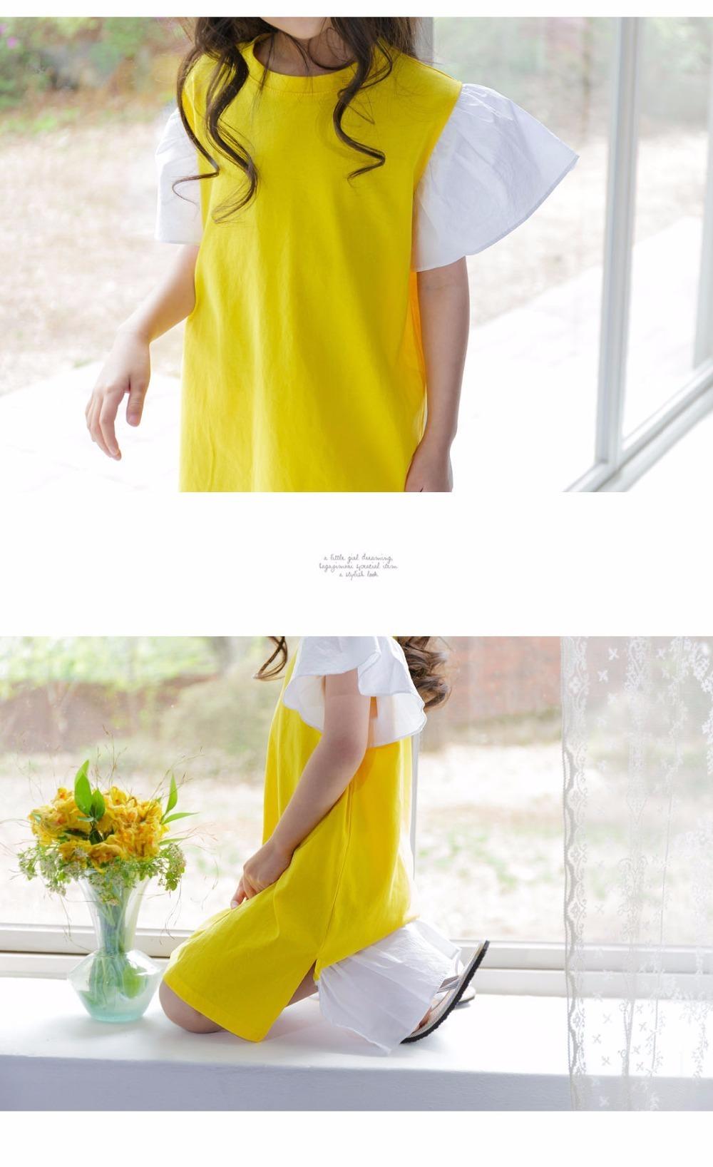 ruffles patchwork little big girl dresses cotton summer 2017 yellow knee legnth kids dresses designs Children Boutique Clothes 4 5 6 7 8 9 10 11 12 13 14 years old little big teenage girls dresses summer dress girl kids 2017 (10)