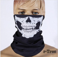 Outdoor windproof Cycling Skull Face Mask riding bicycle fle...
