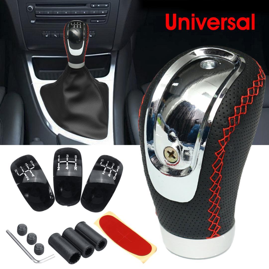 10mm PU Gloss Car 5 velocidades Manual Cambio de marchas Perilla de cambio Universal Autom/ático Negro