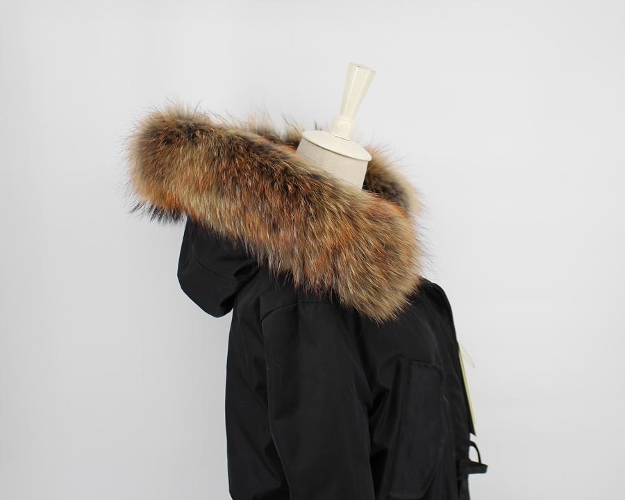 genuine raccoon fur hoody trim collar (2)