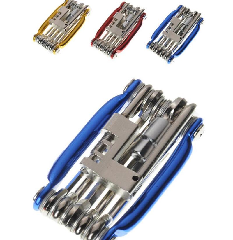 7 In 1 Tasche Stahl Fahrrad Multitool Kits MTB Fahrradreparaturschlüssel