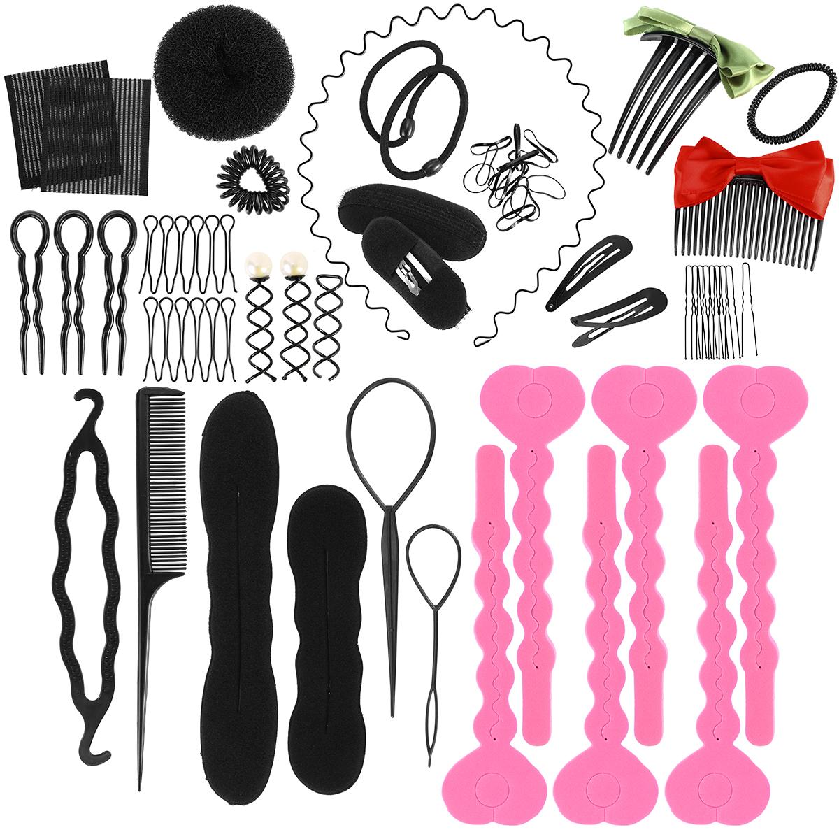 Hair Design Styling Accessories Hair Braider Kit Donut Hairs Clip Accessory Tool Hairdresser Magic Hair Clip