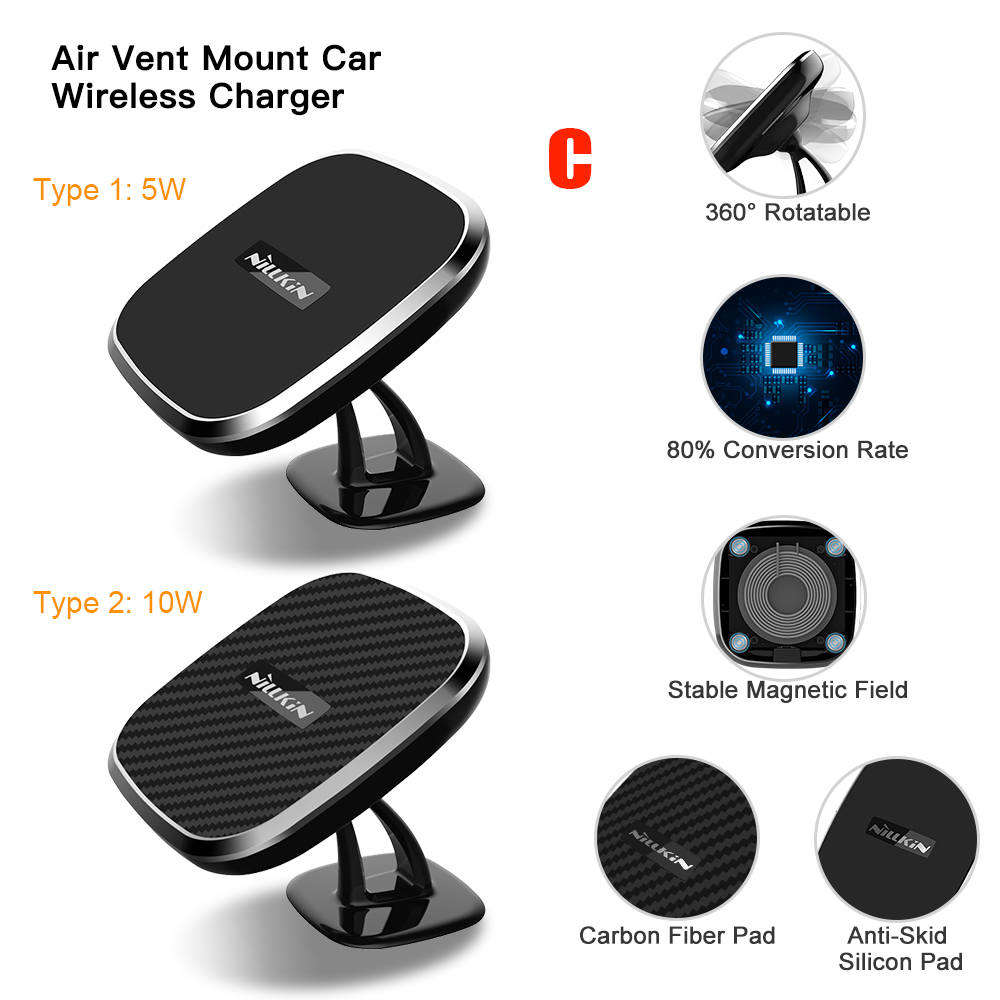 Magnetic Wireless Car Charger (7)