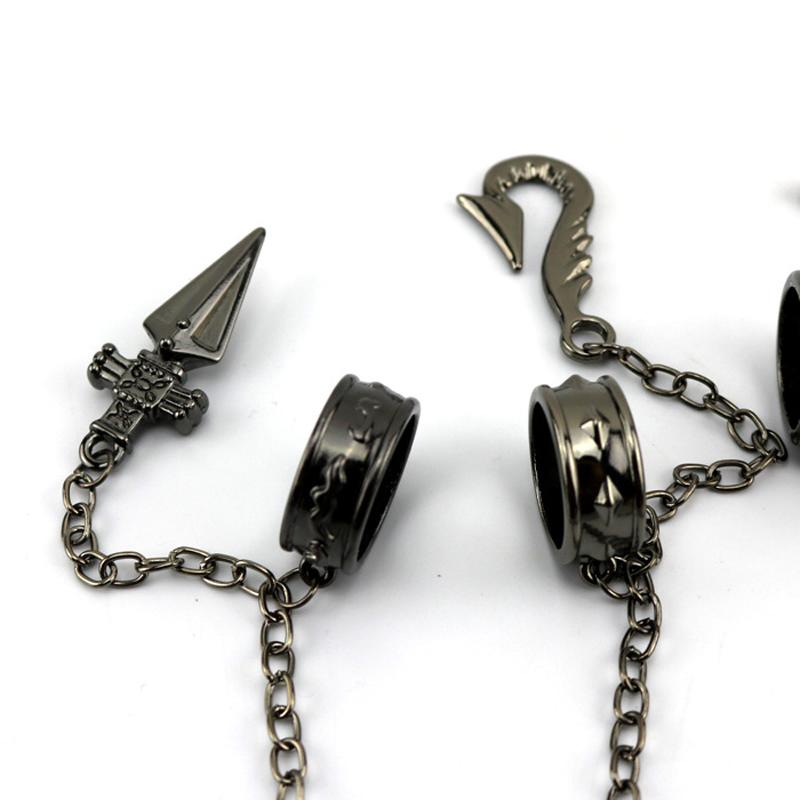 Lateefah мультфильм Охотник х Охотник Kurapika Косплей Prop Металлическое кольцо аксессуары сплав моды подвеска цепь для подарка