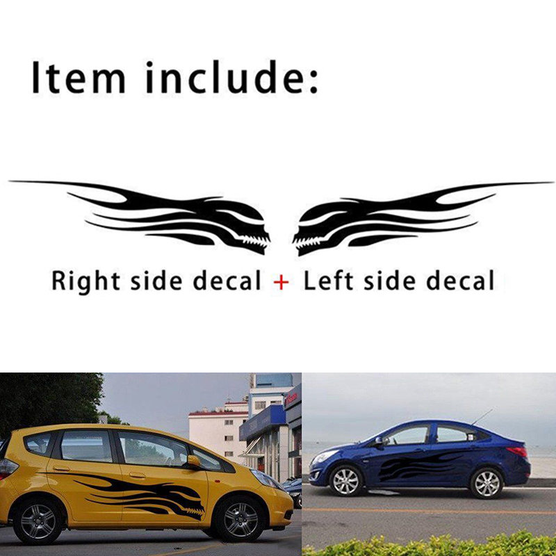 150*30cm Universal 100% Brand New And High Quality Black DIY Skull Car Window Side Body Truck Vinyl Stickers Decals