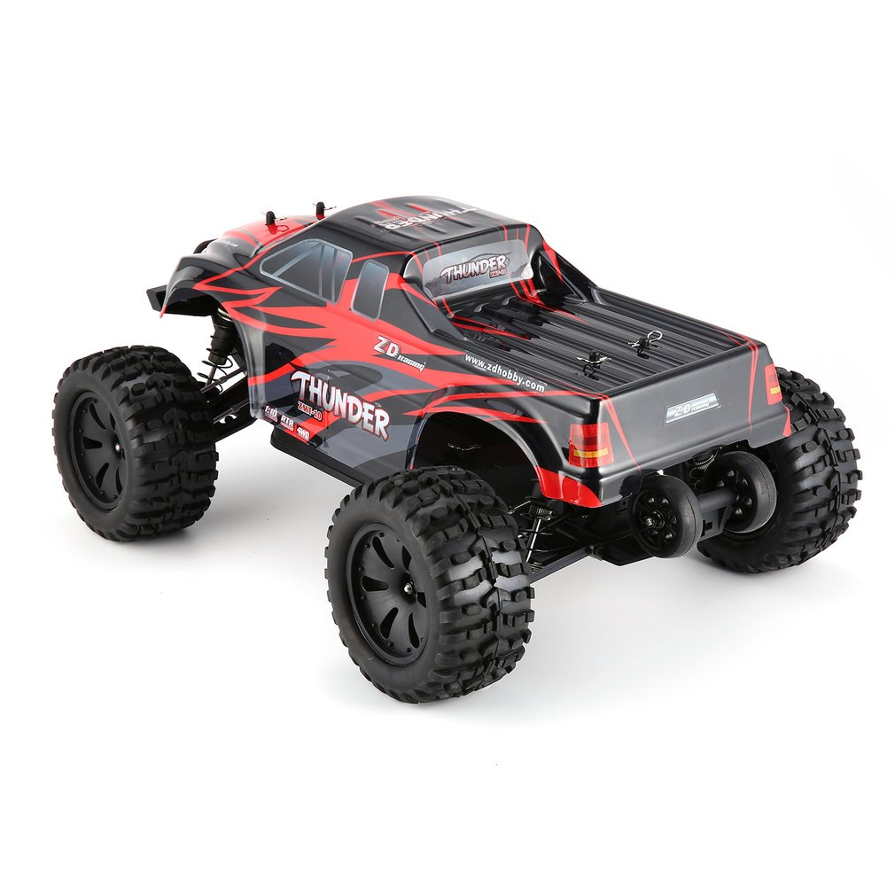 1/10 Thunder 4WD Brushless 70KM/h Racing RC Car Bigfoot Buggy Truck RTR Toys Remote Control Vehicle Climbing Car RC Model US/EU