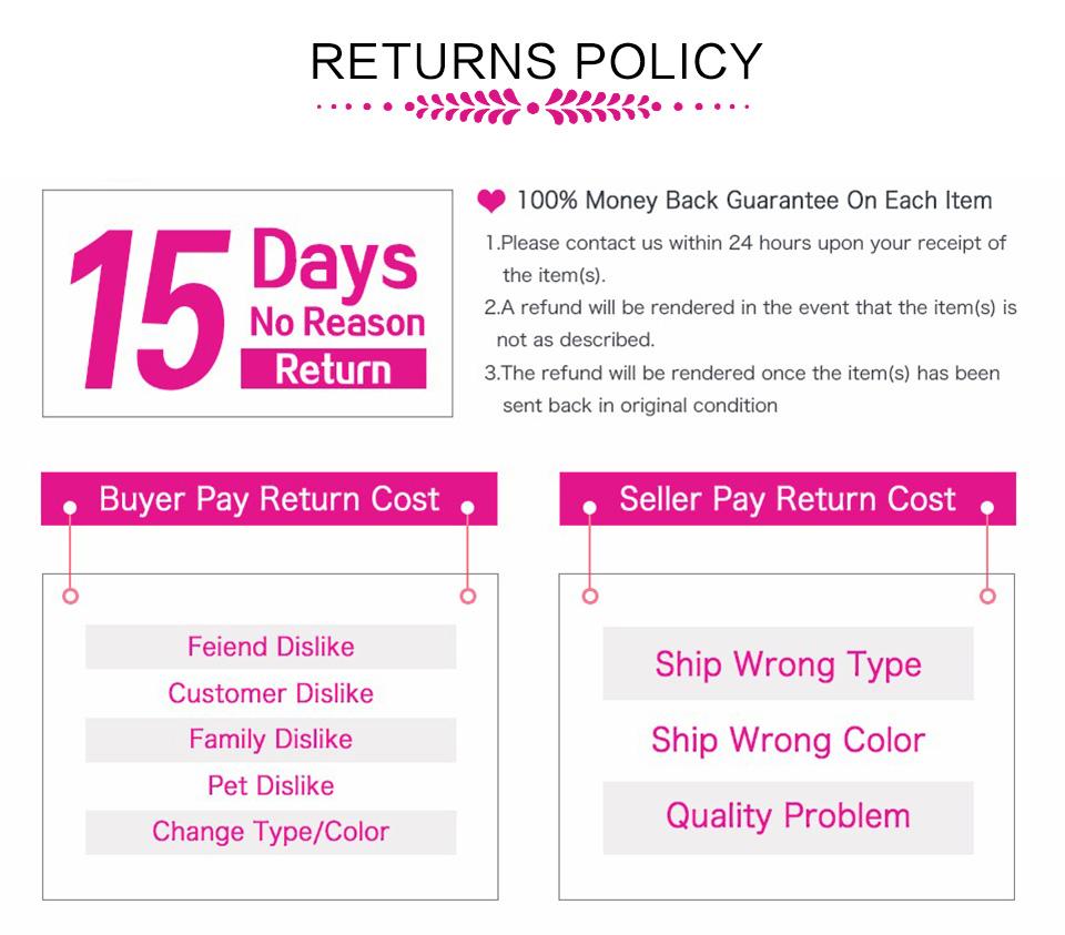 hair return policy