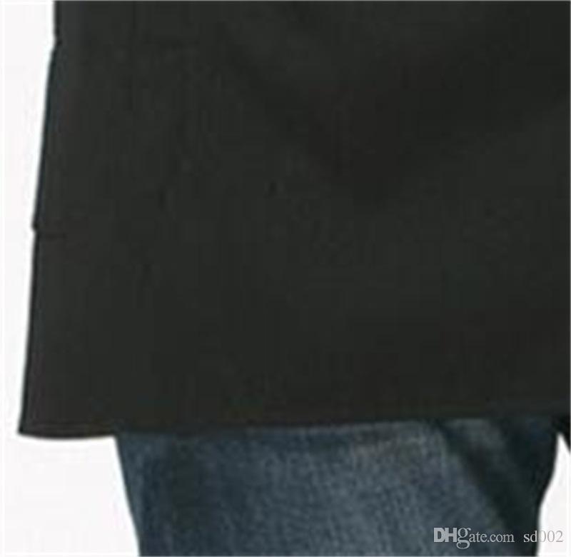 Unisex Adjustable Hanging Neck Denim Pocket Kitchen Cooking Antifouling Apron B