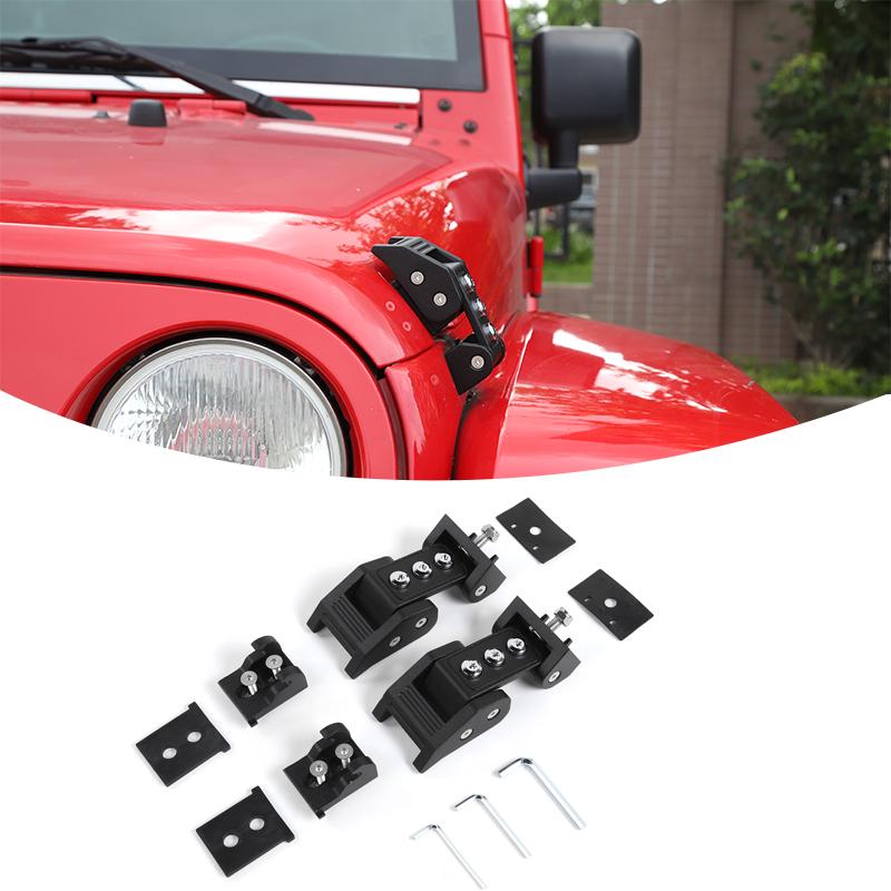 2 St/ücke Schnellverschl/üsse Auto LKW Motorhaube Clip Haspe Clip Kit f/ür Rennwagen Sto/ßstange Sicherheitshaken Mugenpower L