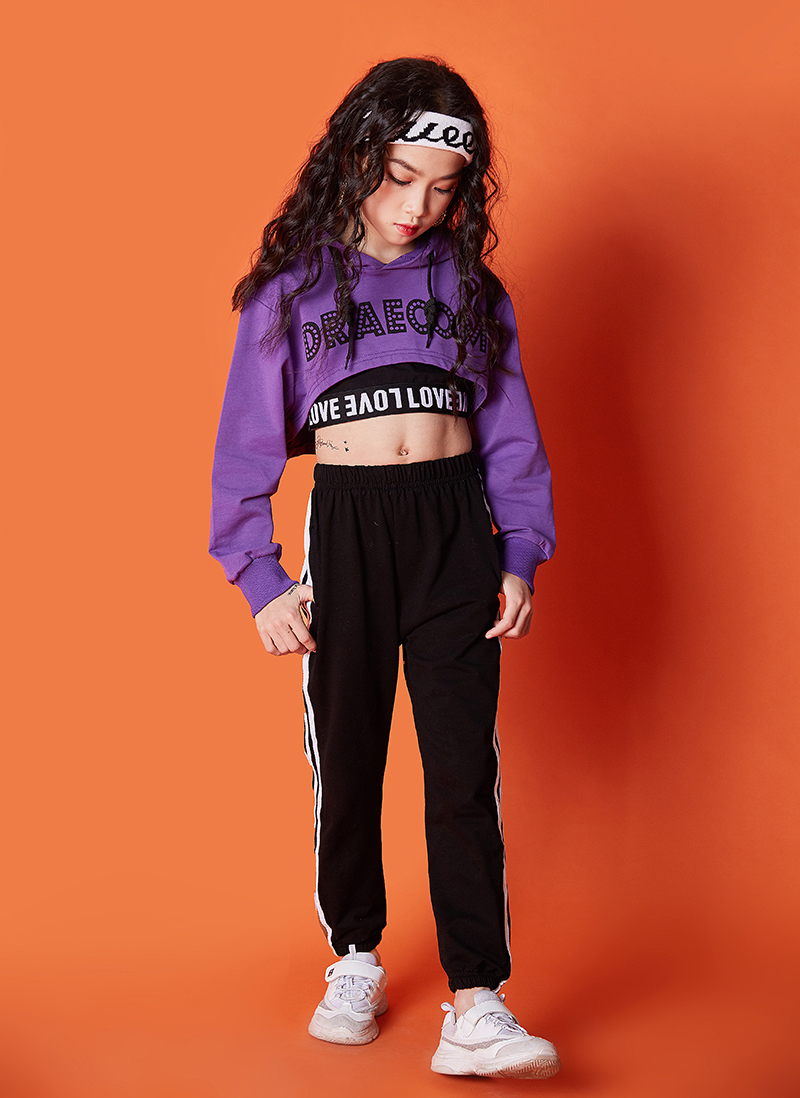 Summer girls clothes set Long Sleeve 2019 8 10 12 14 16 Years jazz dance costumes for kids hip hop hoodie top costume kids Girls (10)