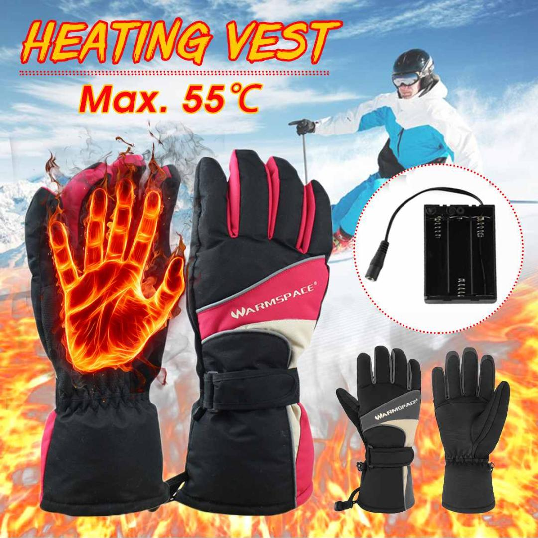 Motorcycle Electric Heated Gloves USB Heating Hand Warmer Winter Ski Thermal UK