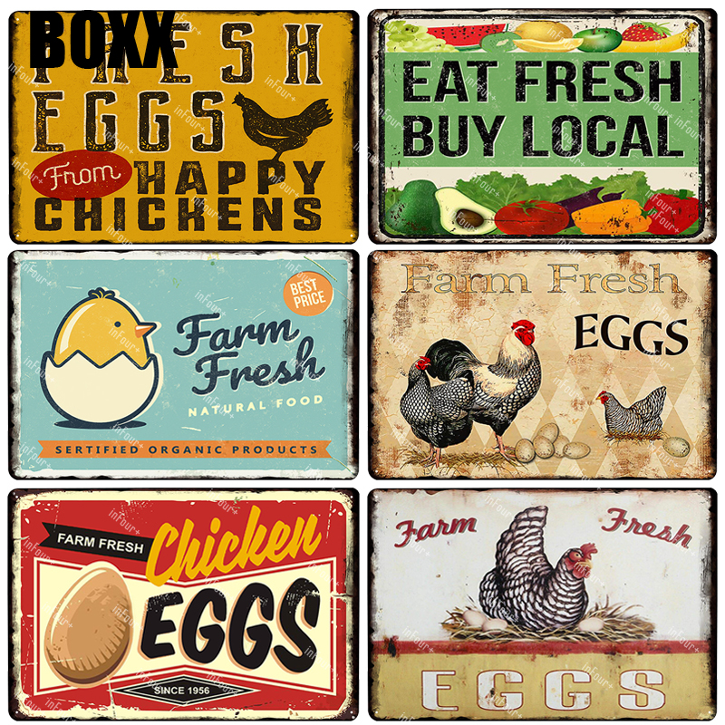 Personnalisé Free Range Oeufs Pour La Vente Signe Plaque Plaque Egg Box Fresh Chicken