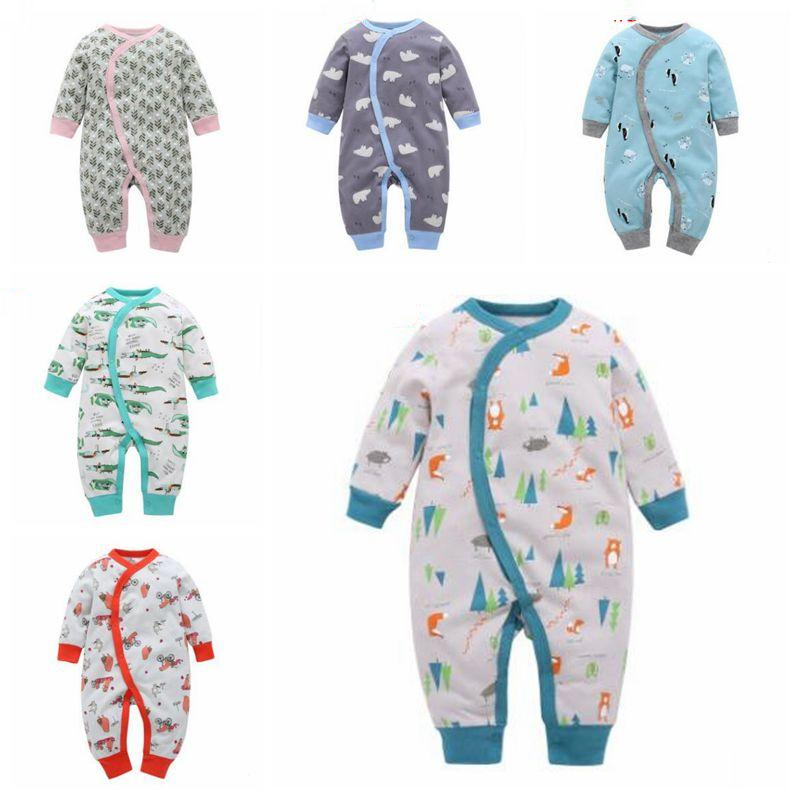 Infant Baby Girls Bodysuit Short-Sleeve Onesie Squirrely Logo Print Jumpsuit Winter Pajamas