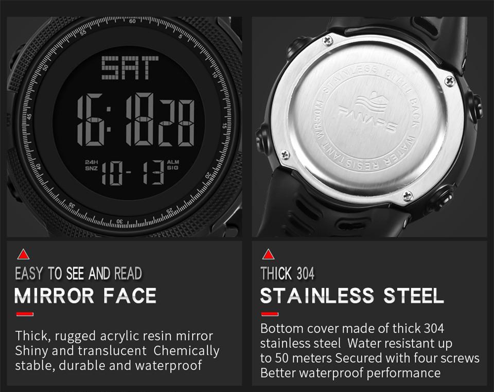 Sports Watch Men Digital Electronic Wrist Watch Waterproof LED Fitness Outdoor Watch For Running Chronograph Wristwatch Relojes (13)