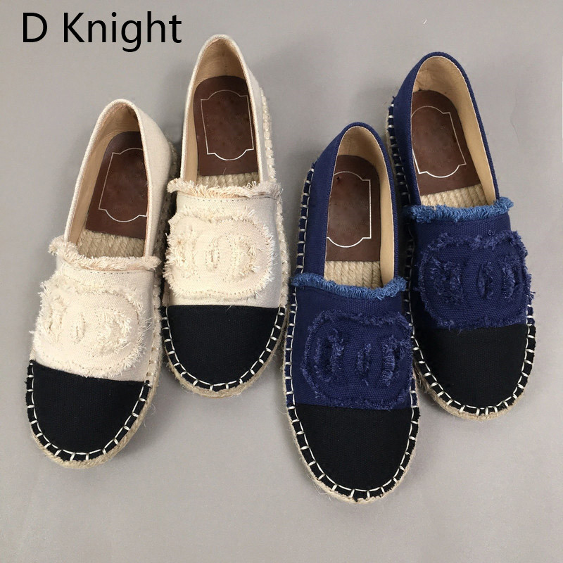 Women Espadrilles Straw Fisherman Shoes Flat Bottom Hemp Rope Breathable Female Loafers Spring Summer Casual Ladies Canvas Shoes (2)