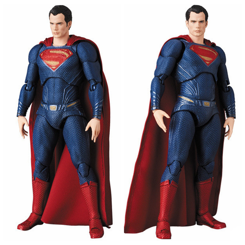 DC Justice League Super Hero MAFEX MAF Batman 056 Flash 058 Wonder Woman 048 Superman 057 Spiderman 047 Action Figure Toy Doll (5)