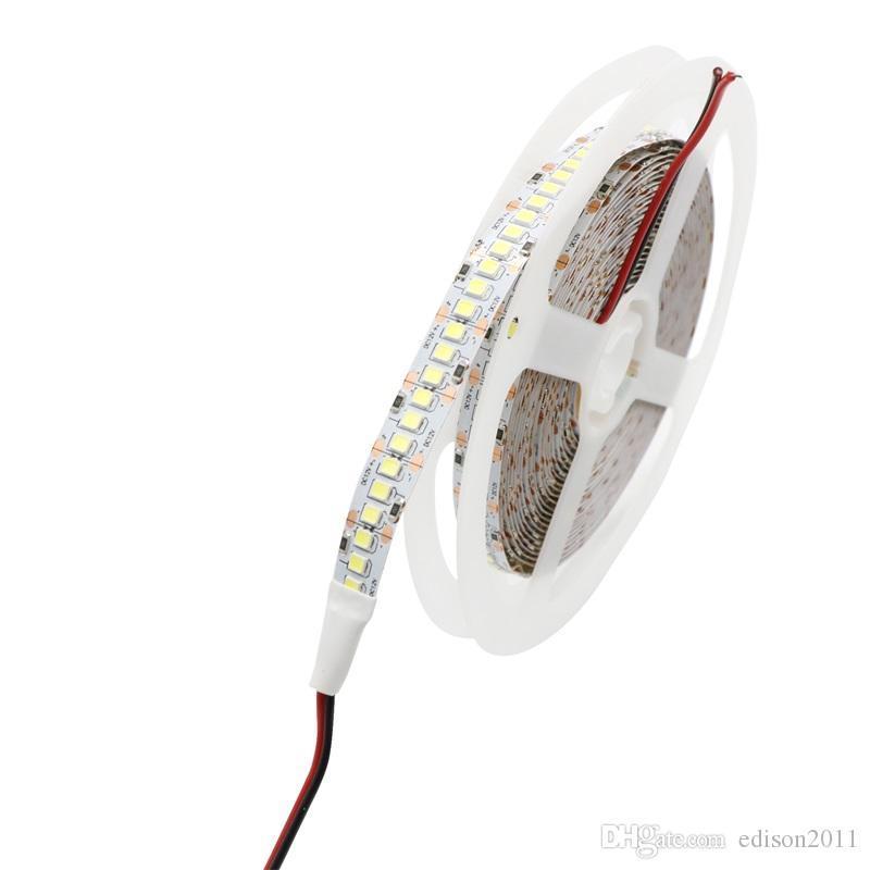Edison2011 10mm PCB 2835 SMD 1200 LED Strip tape DC12V ip20 Non waterproof Flexible Light 240 leds/m, White Warm White